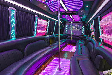 Pink Party Buses Our Pink Limo Buses